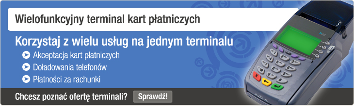 Wielofunkcyjny terminal kart płatniczych