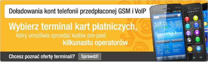 Doładowania kont telefonii przedłaconej GSM i VoIP